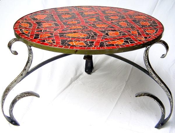 Table Fer Forgé Mosaique - Intérieur Déco